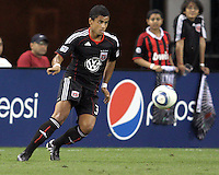 Junior Carreiro #30 of D.C. United during an MLS match against the Houston Dynamo at RFK Stadium in Washington D.C. on September  25 2010.Houston won 3-1.