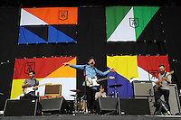Pictured: Twin Atlantic support act. Wednesday 02 July 2014<br /> Re: Kings of Leon at the Liberty Stadium, Swansea, south Wales.