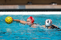 Stanford, CA - March 23, 2019: Katt Klass during the Stanford vs. Harvard women's water polo game at Avery Aquatic Center Saturday.<br /> <br /> The Cardinal won 20-7.