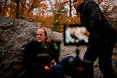 New York, New York<br /> Manhattan, Central Park<br /> December 1, 2014<br /> <br /> George Siemon, CEO of Organic Valley, interview in Central Park Manhattan New  York.