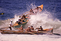 Boats at Bicentennial Surf Carnival in Sydney, Australia