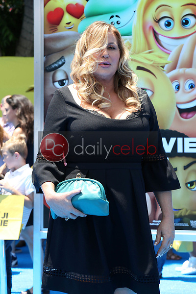 "Jennifer Coolidge<br /> at the premiere of ""The Emoji Movie,"" Village Theater, Westwood, CA 07-23-17<br /> David Edwards/DailyCeleb.com 818-249-4998"