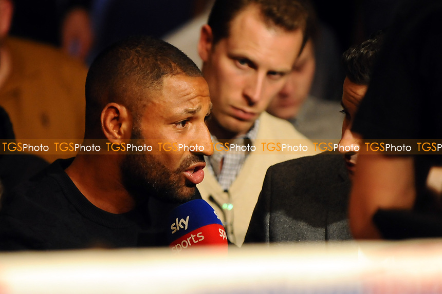 Well Brook sits ringside during a Boxing Show at the Metro Radio Arena on 13th October 2018