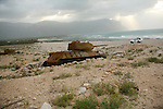 .T34 soviet tank.The island was occupied by the russian army till 1990. Socotra Yemen