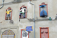 Kunst an Haus in Kedainiai, Litauen, Europa