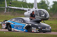 Apr 26, 2014; Baytown, TX, USA; NHRA pro stock driver Jonathan Gray during qualifying for the Spring Nationals at Royal Purple Raceway. Mandatory Credit: Mark J. Rebilas-