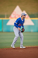 Oklahoma City Dodgers shortstop Drew Jackson (22) during a Pacific Coast League game against the New Orleans Baby Cakes on May 6, 2019 at Shrine on Airline in New Orleans, Louisiana.  New Orleans defeated Oklahoma City 4-0.  (Mike Janes/Four Seam Images)