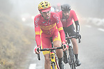 The breakaway group including Jesus Herrada (ESP) Cofidis and Thomas De Gendt (BEL) Lotto-Soudal during a wet miserable Stage 7 of the 2018 Paris-Nice running 175km from Nice to Valdeblore la Colmiane, France. 10th March 2018.<br /> Picture: ASO/Alex Broadway | Cyclefile<br /> <br /> <br /> All photos usage must carry mandatory copyright credit (&copy; Cyclefile | ASO/Alex Broadway)