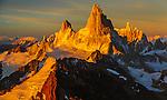 Aerial of Fitz Roy Massif, Los Glaciares National Park, Argentina