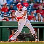 26 September 2018: Washington Nationals third baseman Anthony Rendon in action against the Miami Marlins at Nationals Park in Washington, DC. The Nationals defeated the visiting Marlins 9-3, closing out Washington's 2018 home season. Mandatory Credit: Ed Wolfstein Photo *** RAW (NEF) Image File Available ***
