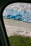 USA, Alaska, Juneau, ariel views of the Taku Glacier seen from helicopter, the Helicopter Dogsled Tour flies you over the Taku Glacier to the HeliMush dog camp at Guardian Mountain above the Taku Glacier, Juneau Ice Field