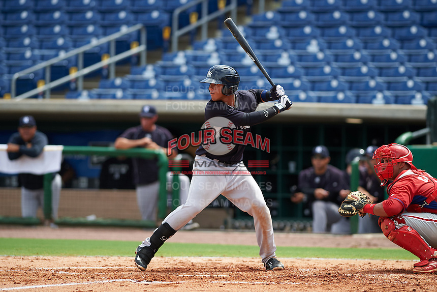 New York Yankees Wilkerman Garcia (95) during an instructional league game against the Philadelphia Phillies on September 29, 2015 at Brighthouse Field in Clearwater, Florida.  (Mike Janes/Four Seam Images)