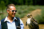 Oregon: Bend, High Desert Museum, bird of prey, handler,  Photo: orbend101  .Photo copyright Lee Foster, www.fostertravel.com, 510/549-2202, lee@fostertravel.com