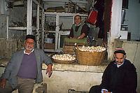 Fez, Morocco - Egg Vendor, in the Medina of Old Fez.