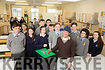 """TY students from Presentation School and St Patrick's School who are involved with a  programme for future  entrepreneurs in the food industry organised by The Bord Bia and Taste Council  programme for TY Students.  Oliver Beaujouan from """" On The Wild Side"""" Castlegregory with with students on Friday"""