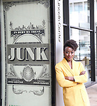 Ito Aghayere during her Broadway debut photo shoot for 'Junk' at Lincoln Center on November 12, 2017 in New York City.