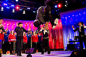 Washington, DC - December 4, 2008 -- Dance troupe Step Afrika! performs at the lighting of the National Christmas Tree at the White House in Washington, DC on 04 December 2008. This is the 85th year the President has participated in the ceremony..Brendan Hoffman - Pool via CNP