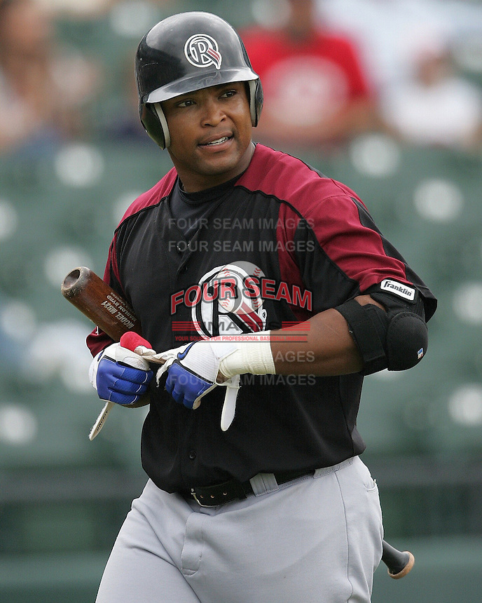Oklahoma Redhawks OF Marlon Byrd during the 2007 Pacific Coast League Season. Photo by Andrew Woolley/ Four Seam Images.