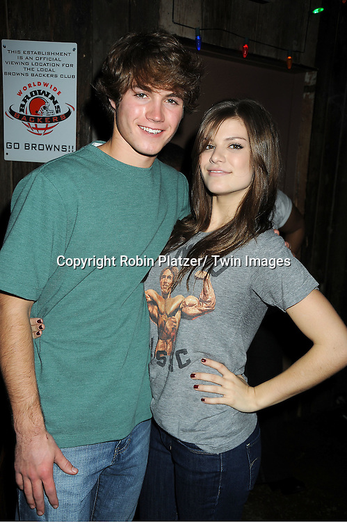 Andrew Trischitta and Kelley Missal attends The One Life To Live Benefit for The Amber Roach Memorial Garden on January 7, 2012 at Brother .Jimmy's Union Square Restaurant in New York City.