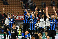 Inter players celebrate the victory at the end of the match <br /> Milano 21/09/2019 Stadio Giuseppe Meazza <br /> Football Serie A 2019/2020 <br /> AC Milan - FC Internazionale  <br /> Photo Andrea Staccioli / Insidefoto