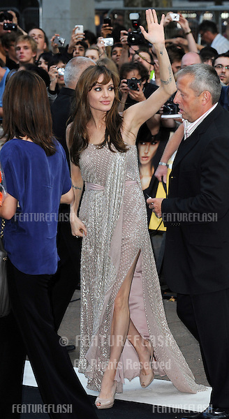 Angelina Jolie  at the UK Premiere of Salt at Empire Leicester Square, London..August  16, 2010 London, United Kingdom.Picture: Gerry Copper / Featureflash..