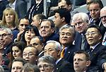 10.01.2019, Mercedes Benz Arena, Berlin, GER, Handball WM 2019, Deutschland vs. Korea, im Bild <br /> Ex-Bundeskanzler Gerhard Schroeder mit Gattin, Seehofer<br />      <br /> Foto © nordphoto / Engler