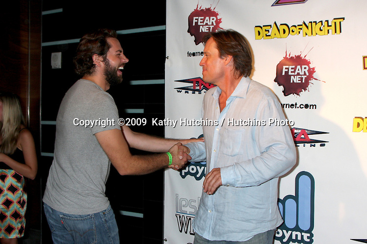 Zachary Levi & Kevin Sorbo  arriving at the Wrath of Con Party at the Hard Rock Hotel in San Diego, CA on July 24, 2009.©2009  Kathy Hutchins / Hutchins Photo....