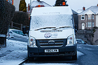 "Pictured: A snow covered Virgin internet van called Van Helsing, caused by the ""Beast from the East"" has covered parts of Swansea, south Wales, UK. Wednesday 28 February 2018<br /> Re: Strong cold winds from the east have been affecting most parts of the UK with temperatures in some parts below zero."