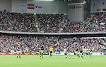 ***BETALBILD***  <br /> Stockholm 2015-09-27 Fotboll Allsvenskan Hammarby IF - AIK :  <br /> Vy &ouml;ver Tele2 Arena med publik p&aring; l&auml;ktarna under matchen mellan Hammarby IF och AIK <br /> (Foto: Kenta J&ouml;nsson) Nyckelord:  Fotboll Allsvenskan Tele2 Arena Hammarby HIF Bajen AIK Derby inomhus interi&ouml;r interior supporter fans publik supporters