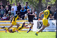Cam Church in action during the rugby union match between New Zealand Schools and Australia Under-18s at St Paul's Collegiate in Hamilton, New Zealand on Friday, 4 October 2019. Photo: Dave Lintott / lintottphoto.co.nz