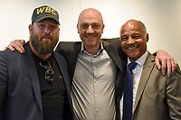 Scott Welch (L), Mickey Helliet and John Conteh during the 'I Am Duran' Film Screening at Universal Pictures on 23rd May 2019