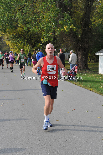 Finish of the 2012 Iron Horse Half Marathon, Midway, Kentucky  October 14, 2012<br /> Photo by Tom Moran