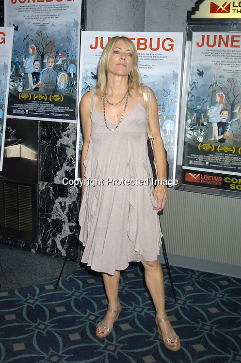 "Kim Gordon of Sonic Youth ..at the New York Premier of ""Junebug"" on August 1, 2005..at the Loews 19th Street Theatre. ..Photo by Robin Platzer, Twin Images"