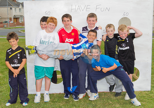 Hayden, Josh, Reece, Johnathan, Dylan, Pedro, Adam, Matthew and Paul enjoy the various activities on the day..Picture: Shane Maguire / www.newsfile.ie.