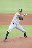 Charleston RiverDogs starting pitcher Caleb Smith (12) in action against the Kannapolis Intimidators at CMC-NorthEast Stadium on June 28, 2014 in Kannapolis, North Carolina.  The Intimidators defeated the RiverDogs 4-3. (Brian Westerholt/Four Seam Images)