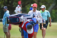 Carlota Ciganda (ESP) heads for the tee on 2 during round 4 of the 2019 US Women's Open, Charleston Country Club, Charleston, South Carolina,  USA. 6/2/2019.<br /> Picture: Golffile | Ken Murray<br /> <br /> All photo usage must carry mandatory copyright credit (© Golffile | Ken Murray)