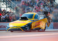 Oct 20, 2019; Ennis, TX, USA; NHRA funny car driver J.R. Todd during the Fall Nationals at the Texas Motorplex. Mandatory Credit: Mark J. Rebilas-USA TODAY Sports