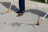 China, Peking (Beijing), Kalligraphie im Beihai-Park