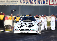 Feb 6, 2015; Pomona, CA, USA; NHRA funny car driver John Hale during qualifying for the Winternationals at Auto Club Raceway at Pomona. Mandatory Credit: Mark J. Rebilas-