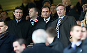 GORDON SMITH, ALLY RUSSELL AND CRAIG WHYTE IN THE STAND AT IBROX
