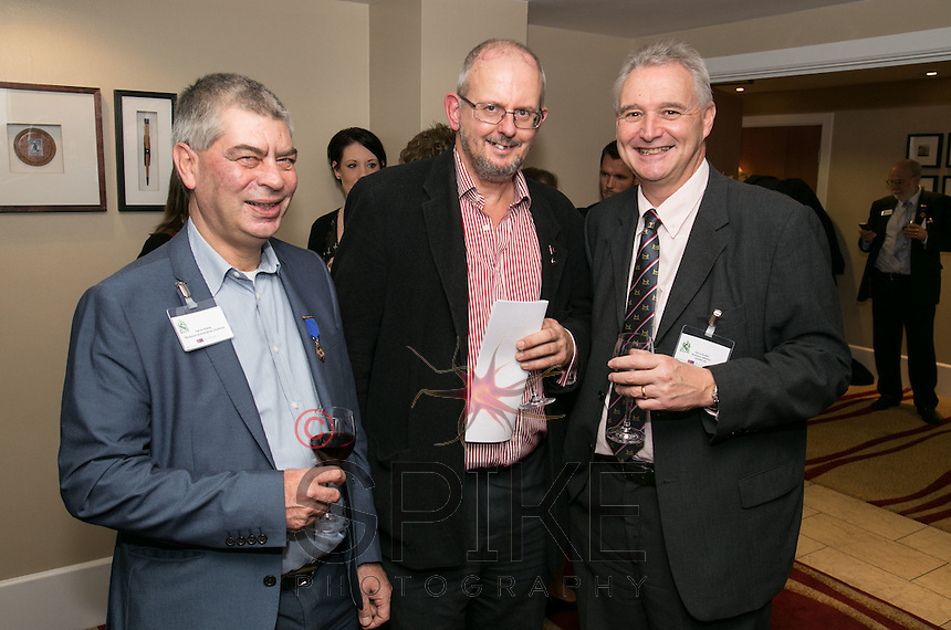 Pictured are Trevor Harris, Pedigree Automotive Solutions, William Randall of Logistic & Warehouse Services and Steve Rudkin of BizGrants