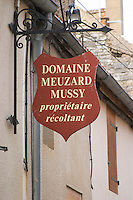 Domaine Meuzard Mussy. The village. Pommard, Cote de Beaune, d'Or, Burgundy, France