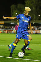 AFC Wimbledon's Lyle Taylor in action during the Sky Bet League 1 match between AFC Wimbledon and MK Dons at the Cherry Red Records Stadium, Kingston, England on 22 September 2017. Photo by Carlton Myrie / PRiME Media Images.