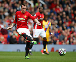 Phil Jones of Manchester United in action during the English Premier League match at the Old Trafford Stadium, Manchester. Picture date: May 21st 2017. Pic credit should read: Simon Bellis/Sportimage