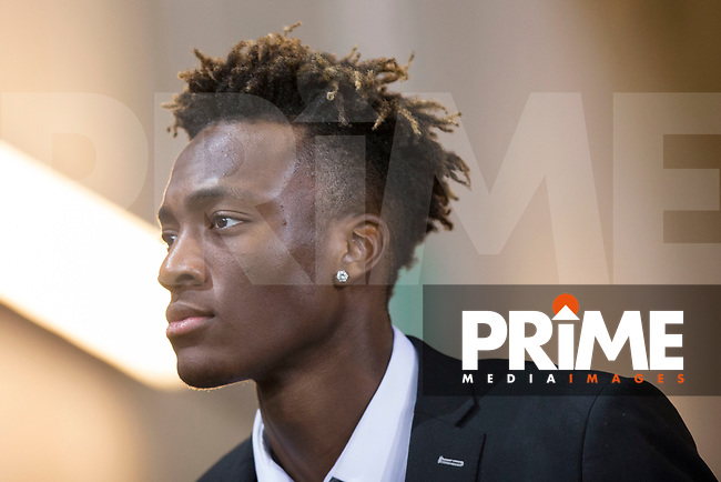 Tammy Abraham of Swansea City arrives for the EPL - Premier League match between Swansea City and Manchester City at the Liberty Stadium, Swansea, Wales on 13 December 2017. Photo by Mark  Hawkins / PRiME Media Images.