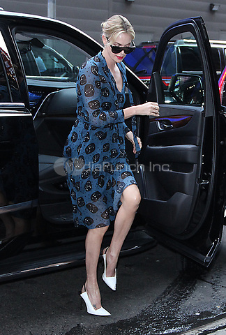 NEW YORK, NY - MAY 4: Charlize Theron seen arriving at Good Morning America to promote her new film, 'Tully' on May 04, 2018 in New York City. Credit: RW/MediaPunch