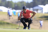 Ross Fisher (ENG) at the 17th green during Thursday's Round 1 of the 118th U.S. Open Championship 2018, held at Shinnecock Hills Club, Southampton, New Jersey, USA. 14th June 2018.<br /> Picture: Eoin Clarke | Golffile<br /> <br /> <br /> All photos usage must carry mandatory copyright credit (&copy; Golffile | Eoin Clarke)