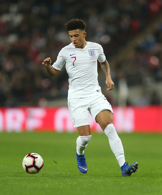 England's Jadon Sancho<br /> <br /> Photographer Rob Newell/CameraSport<br /> <br /> The Wayne Rooney Foundation International - England v United States - Thursday 15th November 2018 - Wembley Stadium - London<br /> <br /> World Copyright © 2018 CameraSport. All rights reserved. 43 Linden Ave. Countesthorpe. Leicester. England. LE8 5PG - Tel: +44 (0) 116 277 4147 - admin@camerasport.com - www.camerasport.com