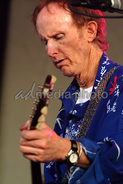 June 22, 2003; Pittsburgh, PA, USA; Guitarist ROBBY KRIEGER of THE DOORS of the 21st CENTURY makes a summer tour stop at the Post-Gazette Pavilion.  Mandatory Credit: Photo by Jason Nelson/AdMedia (©) Copyright 2003 by Jason Nelson