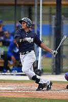 New York Yankees Leonardo Molina (28) during a minor league spring training game against the Toronto Blue Jays on March 24, 2015 at the Englebert Complex in Dunedin, Florida.  (Mike Janes/Four Seam Images)
